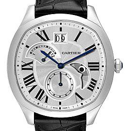 Cartier Drive Retrograde Chronograph Steel Mens Watch WSNM0005