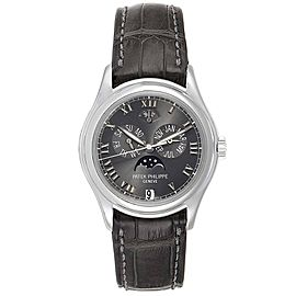 Patek Philippe Complications Annual Calendar Moonphase Platinum Watch 5056