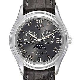 Patek Philippe Complications Annual Calendar Moonphase Platinum Watch 5056