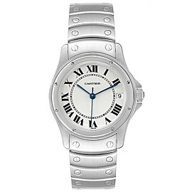 Cartier Panthere Cougar White Dial Steel Unisex Watch W35002F5