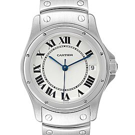 Cartier Panthere Cougar 33mm Steel Mens Watch W35002F5