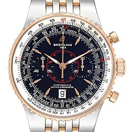 Breitling Montbrillant Legende Steel Rose Gold Black Dial Watch C23340