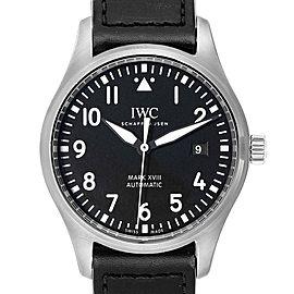 IWC Pilot Mark XVIII Black Dial Steel Mens Watch IW327001 Box Card