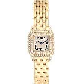 Cartier Panthere Mini Yellow Gold Diamond Special Edition Ladies Watch 1131