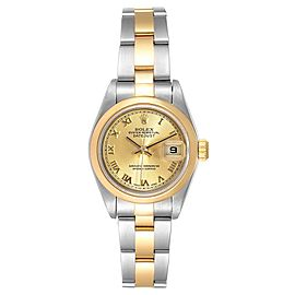 Rolex Datejust Steel Yellow Gold Silver Dial Ladies Watch 79163