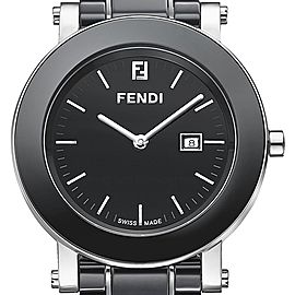 Fendi F641110 Black Ceramic and Stainless Steel Black Dial 38mm Womens Watch