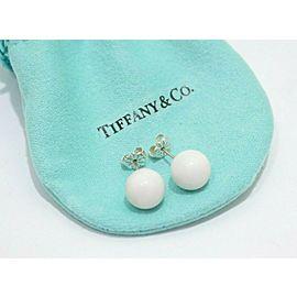Tiffany & Co. Sterling Silver 10mm Dolomite 10mm Bead Stud Earrings