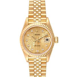 Rolex President Datejust Yellow Gold Diamond Dial Ladies Watch 69178