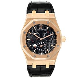 Audemars Piguet Royal Oak Dual Time Power Reserve Rose Gold Watch 26120OR