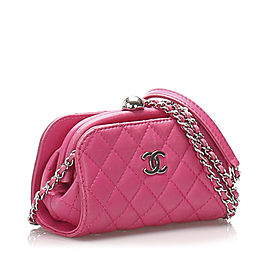 CC Lambskin Leather Crossbody Bag