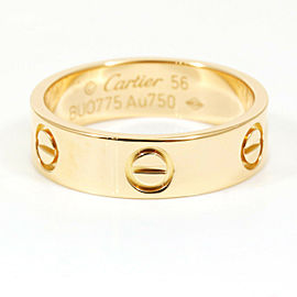 Cartier 18K Rose Pink Gold Love Band Ring CHAT-131