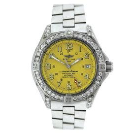 Breitling Super Ocean A17345 Stainless Steel & Diamond Mens Watch