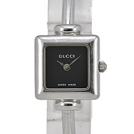 GUCCI 1900L Black Dial SS Quartz Ladies Watch