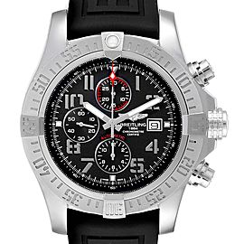 Breitling Aeromarine Super Avenger Steel Mens Watch A13371 Box Papers
