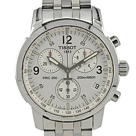 TISSOT T461 Silver Dial Stainless Steel Chronograph Quartz Men's Watch