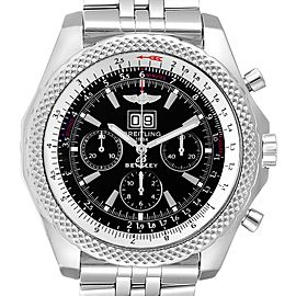 Breitling Bentley Motors Black Dial Chronograph Mens Watch A44362 Box