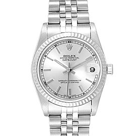 Rolex Datejust Midsize Steel White Gold Silver Dial Ladies Watch 78274