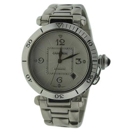 Cartier Pasha 18K White Gold Automatic Men's Watch 38mm