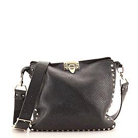Valentino Rockstud Flip Lock Messenger Bag Leather Small