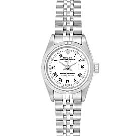 Rolex Oyster Perpetual White Dial Steel Ladies Watch 69190