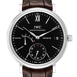 IWC Portofino 8 Days Power Reserve 45mm Black Dial Mens Watch IW510102