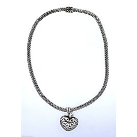John Hardy Sterling Silver Weave Heart Chain Necklace