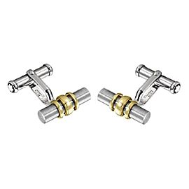 Montblanc 18K Yellow Gold Ring & Stainless Steel Cufflinks