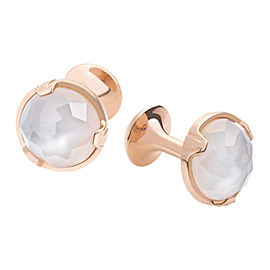 Montblanc 18K Red Gold Quartz Cufflinks