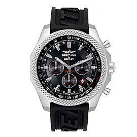 Breitling Bentley Barnato 49mm Black Red Dial Steel Mens Watch A25368