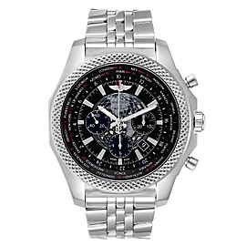 Breitling Bentley GMT B05 Unitime Black Dial Mens Watch AB0521 Box Card