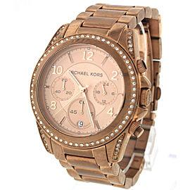 Michael Kors Blair Pink Rose Gold-Tone Chronograph Quartz Watch