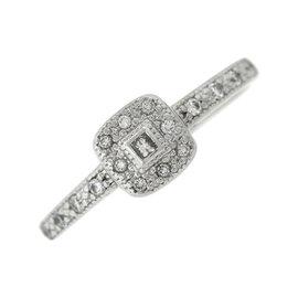 Charriol Solid 18K 750 White Gold Diamond Ring