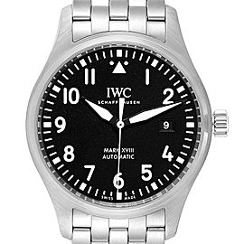 IWC Pilot Mark XVIII Black Dial Steel Mens Watch IW327011 Card