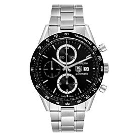 Tag Heuer Carrera Tachymeter Chronograph Steel Mens Watch CV2010