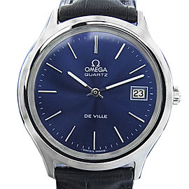 Omega De Ville Stainless Steel Swiss Quartz 80'S Watch