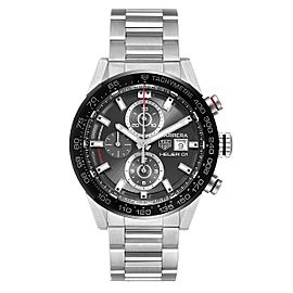 Tag Heuer Carrera Chronograph Automatic Mens Watch CAR201W Box Card