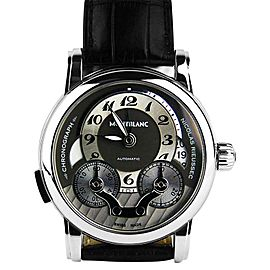 Montblanc Nicolas Rieussec Stainless Steel & Leather 43mm Watch