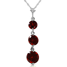 3.6 CTW 14K Solid White Gold Seeing Believing Garnet Necklace