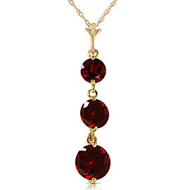 3.6 CTW 14K Solid Gold Eyes Of Happiness Garnet Necklace