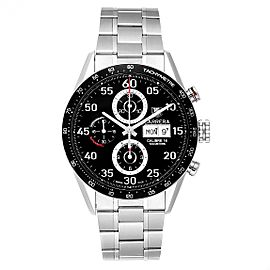 Tag Heuer Carrera Day Date Black Dial Steel Mens Watch CV2A10