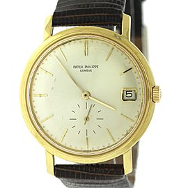 Patek Philippe Calatrava 3445 Date Dress 18K Yellow Gold Automatic Watch