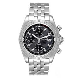 Breitling Chronomat Evolution Grey Dial Steel Mens Watch A13356