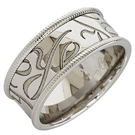 Carrera Y Carrera 18K White Gold Ring Band