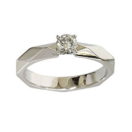 Boucheron Platinum 0.22 Ct Diamond Ring Size 4.75