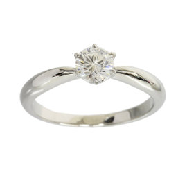 Mikinoto PT950 Platinum 0.43ct Diamond Solitaire Ring Size 5.5