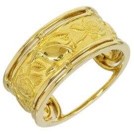 Carrera y Carrera 18K Yellow Gold Rose Design Band Ring