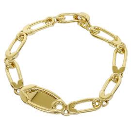 Hermes 18K Yellow Gold Chain Bracelet