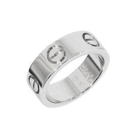 Cartier Love 18K White Gold Ring Size 3.25