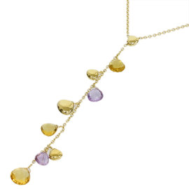 Marco Bicego 18K Yellow Gold Aruba Citrine & Amethyst Necklace
