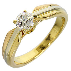 Cartier Trinity 18K 3-Gold 0.30ct Diamond Ring Size 4.5